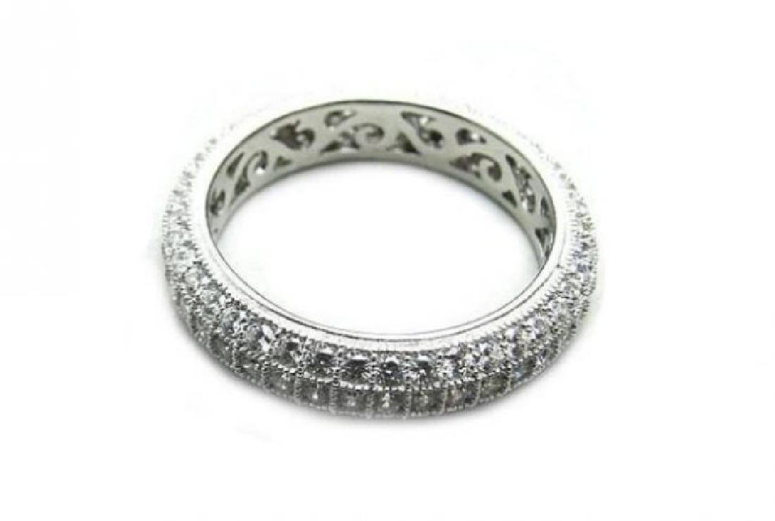 Creation Diamond Eternity Ring 2.00Ct 18k W/g Over - 3