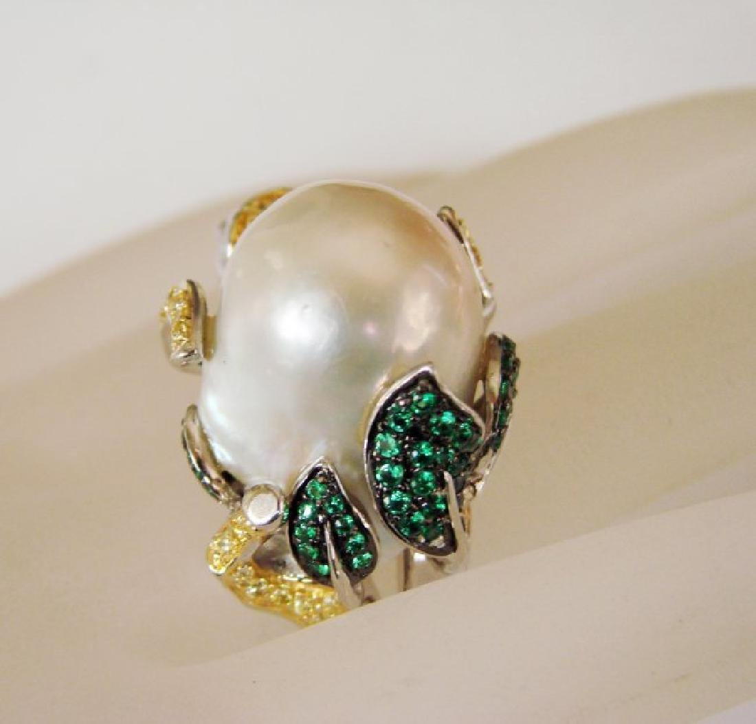South Sea Pearl Creation Dia-Em 2.44Ct 18k W/g Overlay - 2