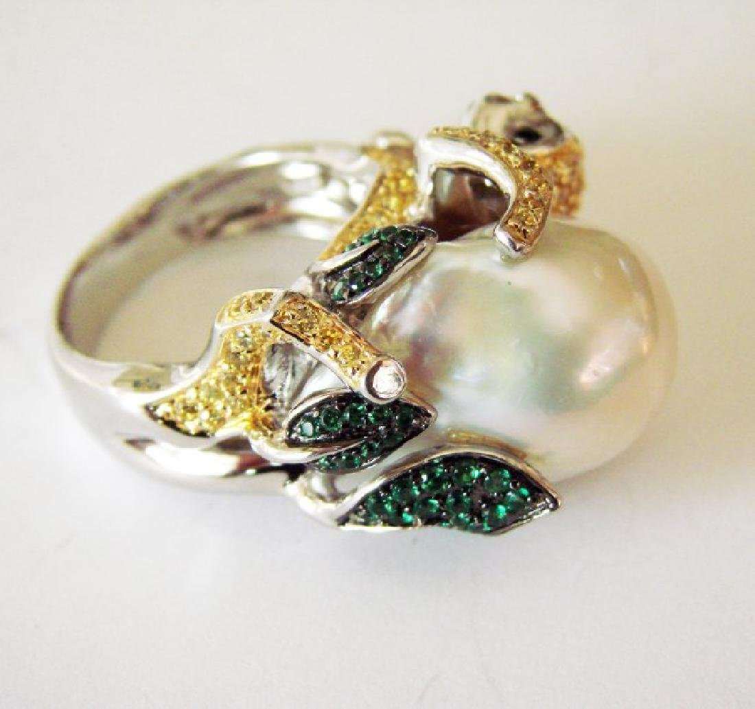 South Sea Pearl Creation Dia-Em 2.44Ct 18k W/g Overlay - 6