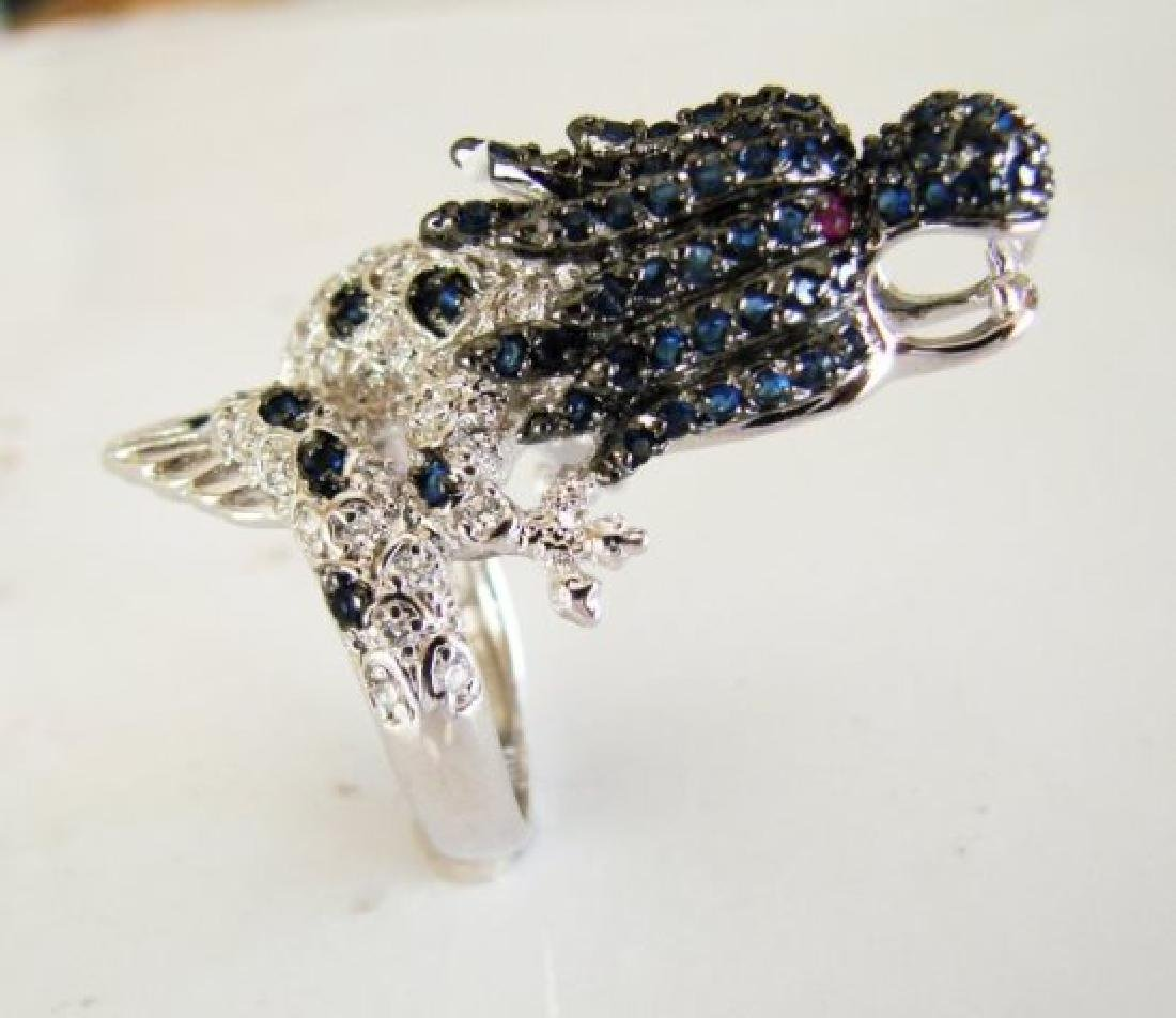 Creation Dia,sph,rb Dragon Ring 3.44Ct 18k W/G Overlay - 2