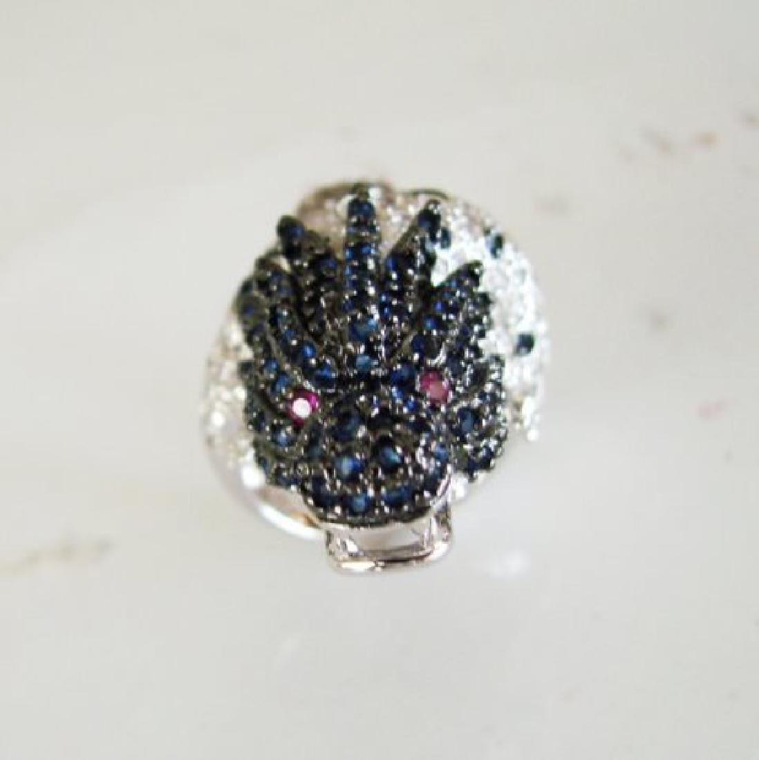 Creation Dia,sph,rb Dragon Ring 3.44Ct 18k W/G Overlay - 3