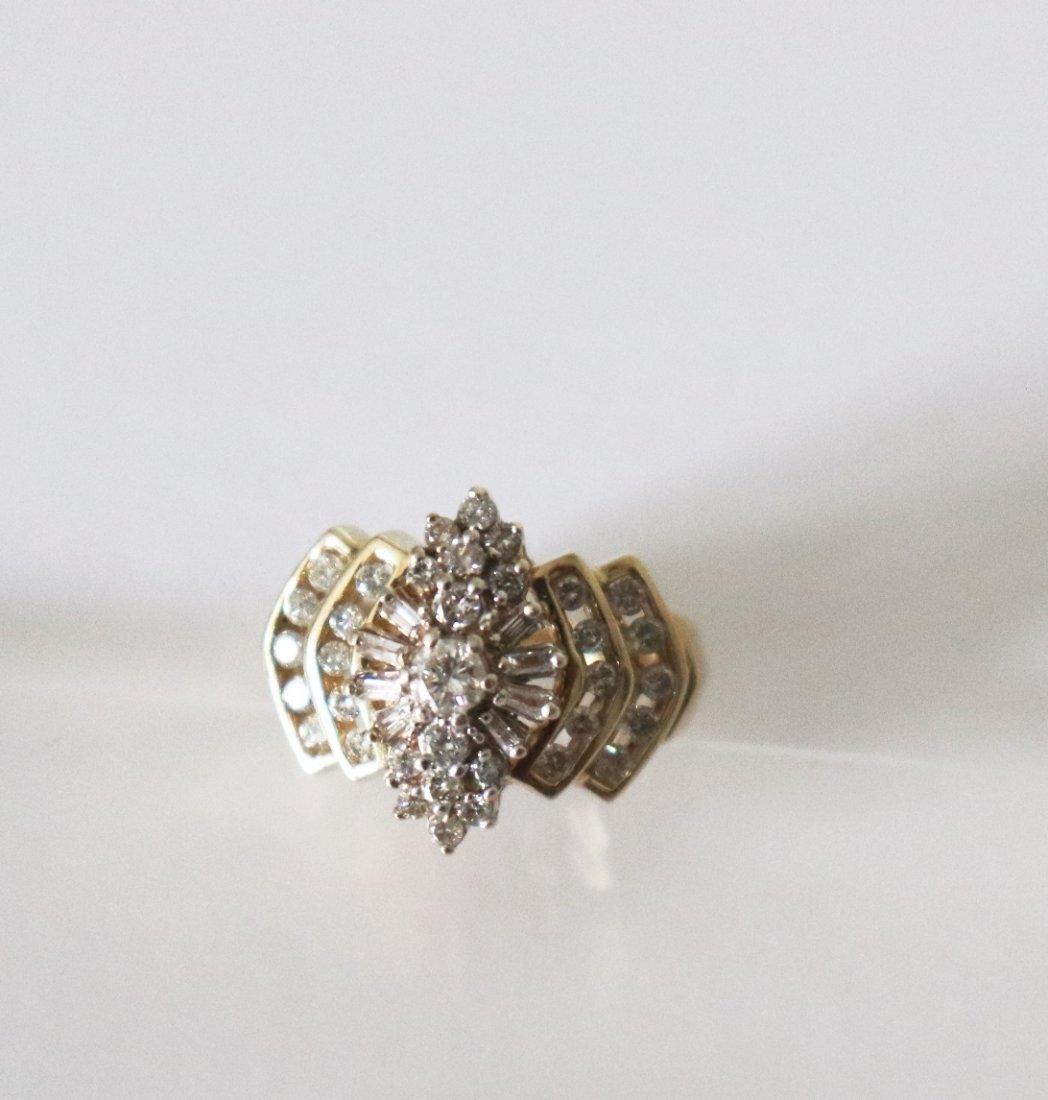 Natural Diamond Ring  1.17Carat 14k Y/g