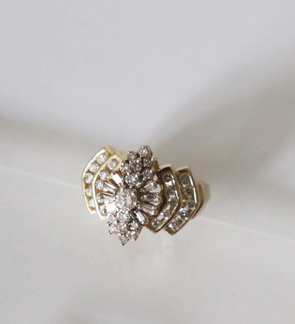 Natural Diamond Ring  1.17Carat 14k Y/g - 2