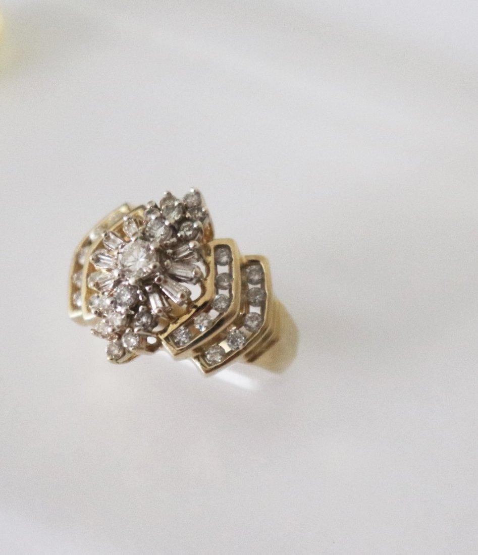 Natural Diamond Ring  1.17Carat 14k Y/g - 3