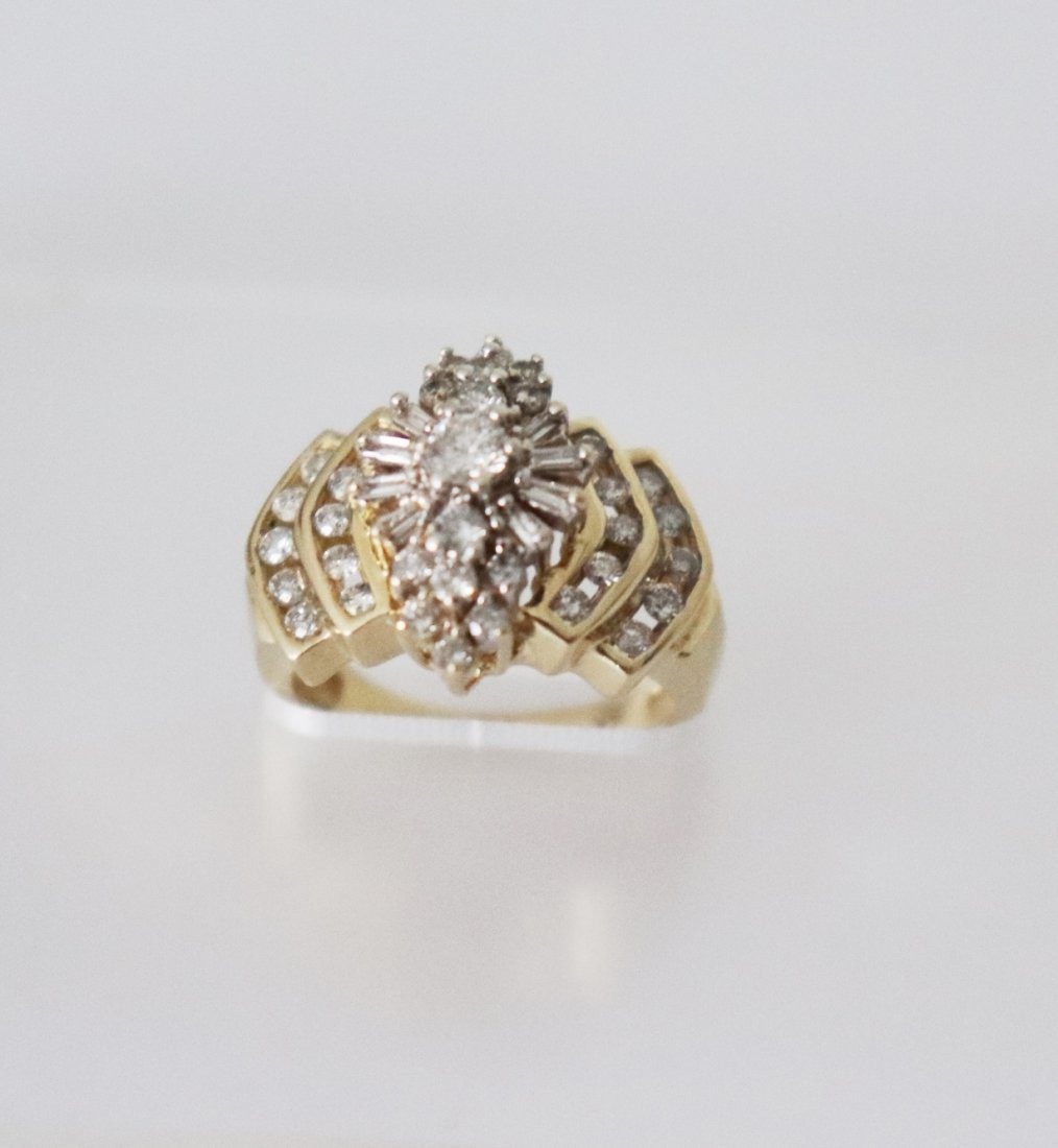 Natural Diamond Ring  1.17Carat 14k Y/g - 4