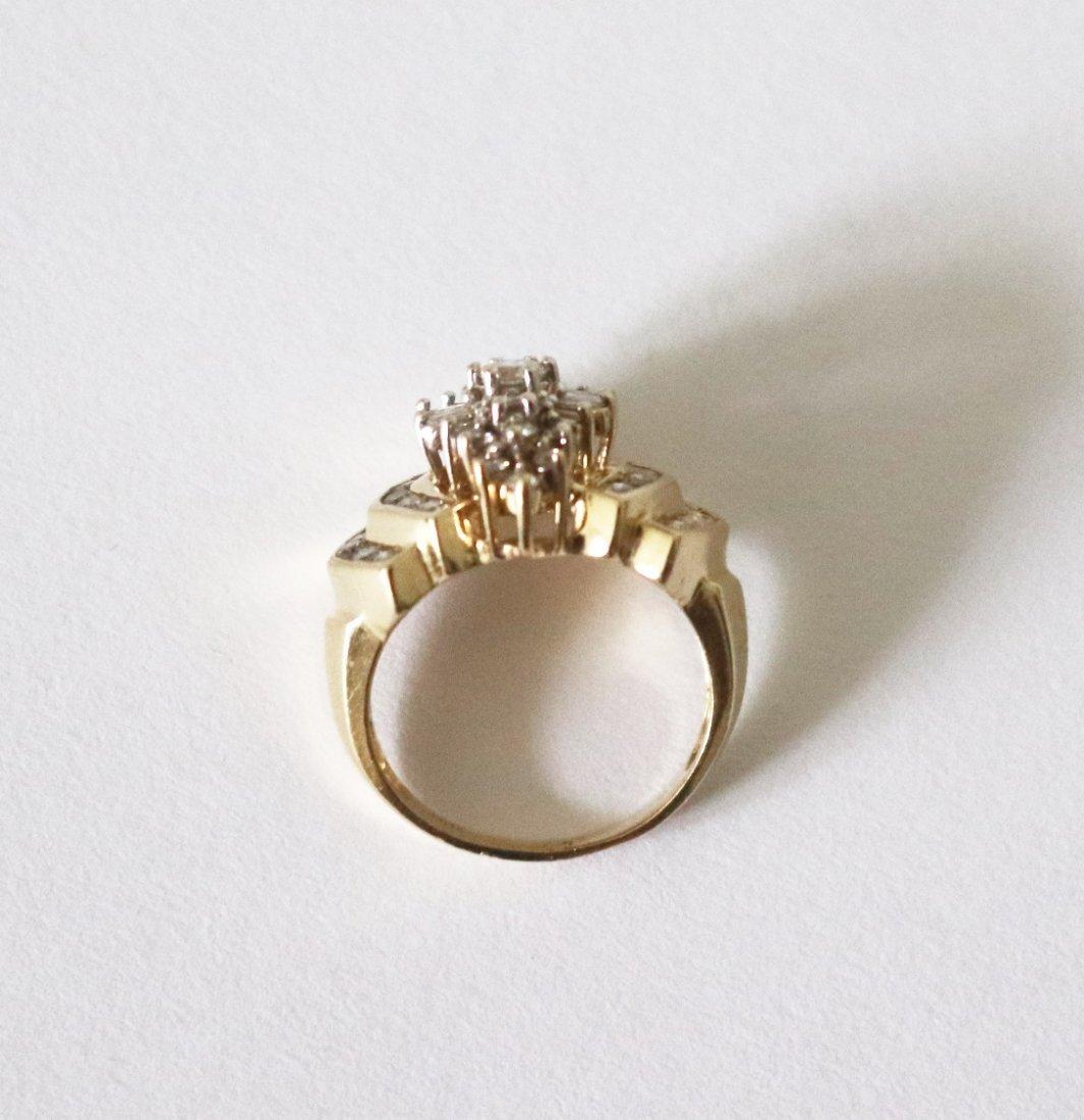Natural Diamond Ring  1.17Carat 14k Y/g - 5