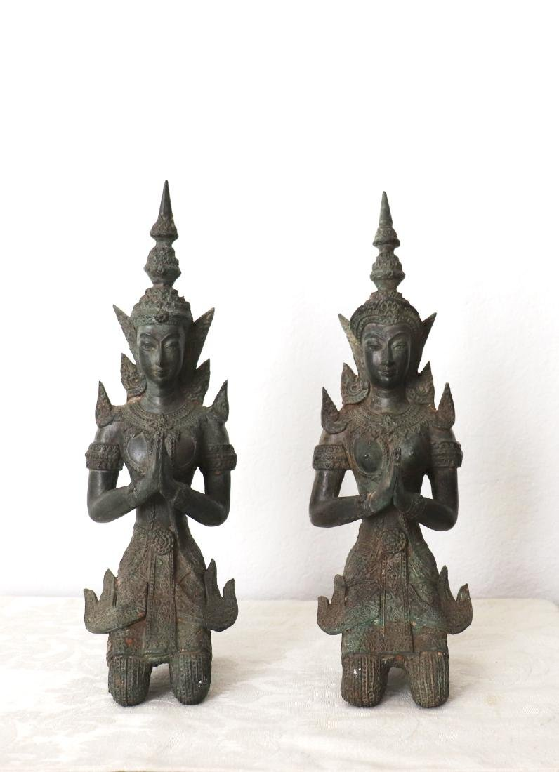 Khmer Royal Pairs of Guardian Angle Statue 12th Century - 2