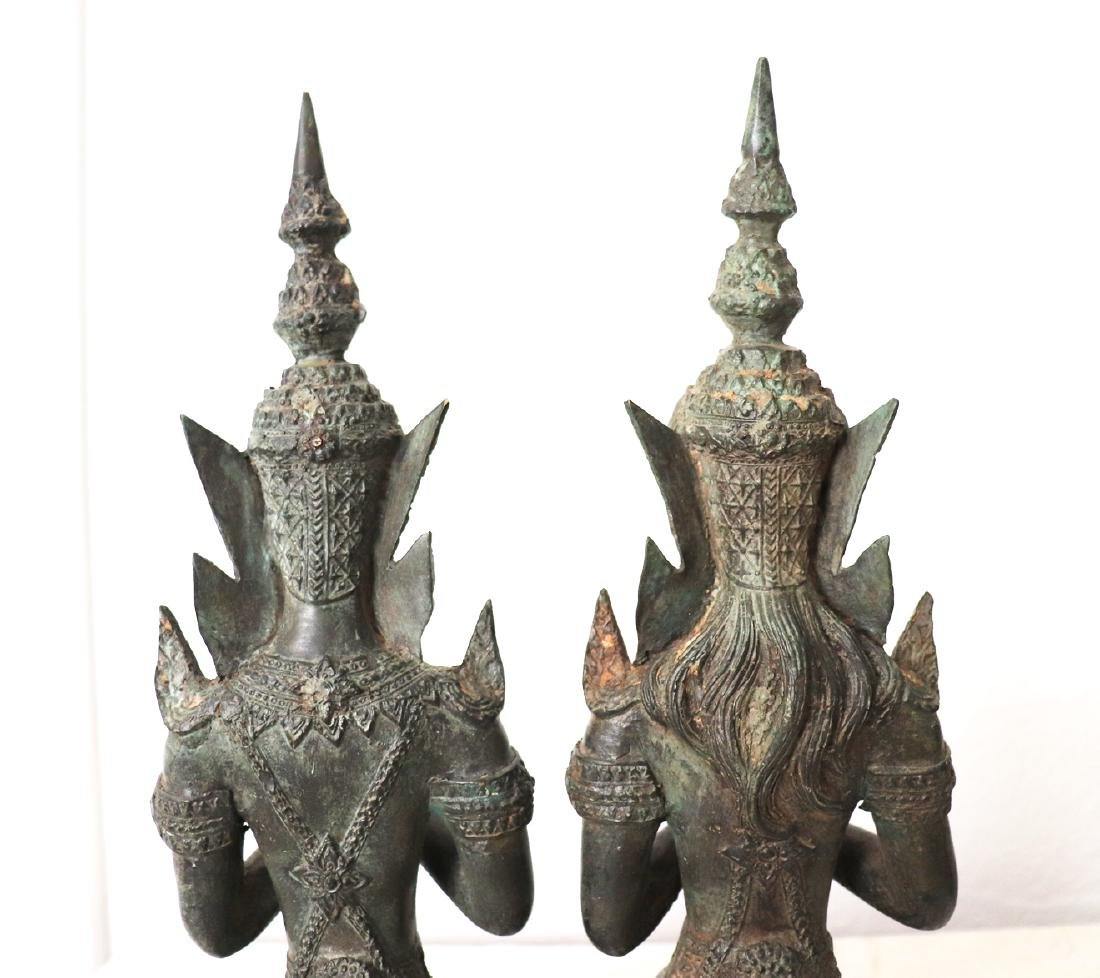 Khmer Royal Pairs of Guardian Angle Statue 12th Century - 5