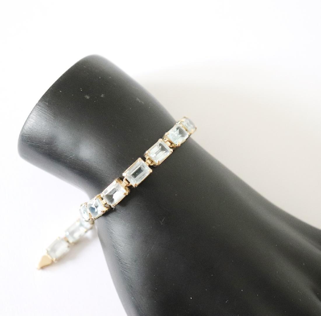 Aquamarine Bracelet 19.68 CT 14k Yellow Gold