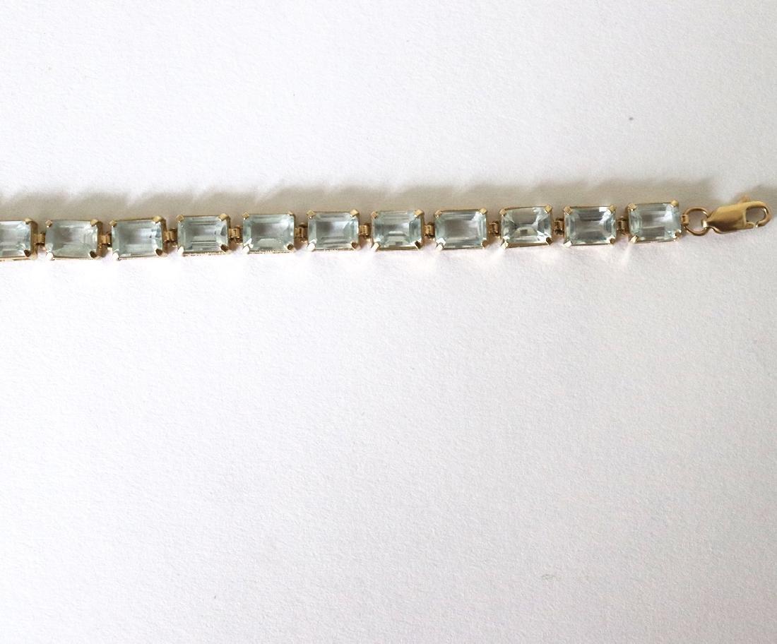 Aquamarine Bracelet 19.68 CT 14k Yellow Gold - 3