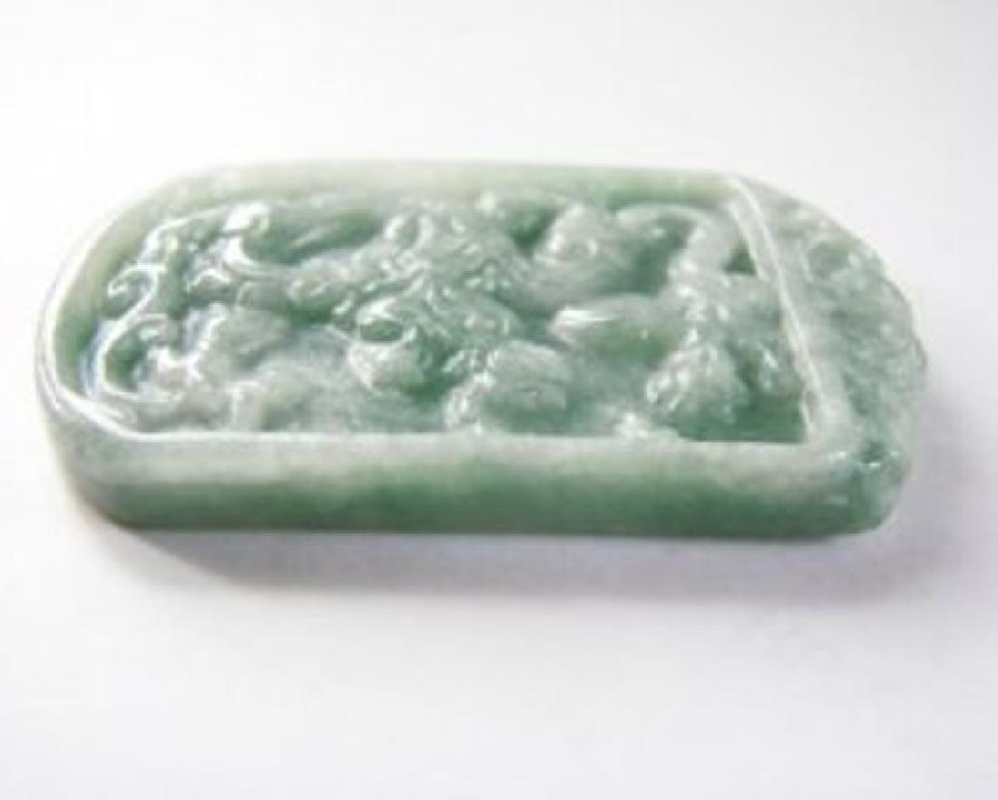 Natural Jadeite Jade Carving Dragon Grade A - 4
