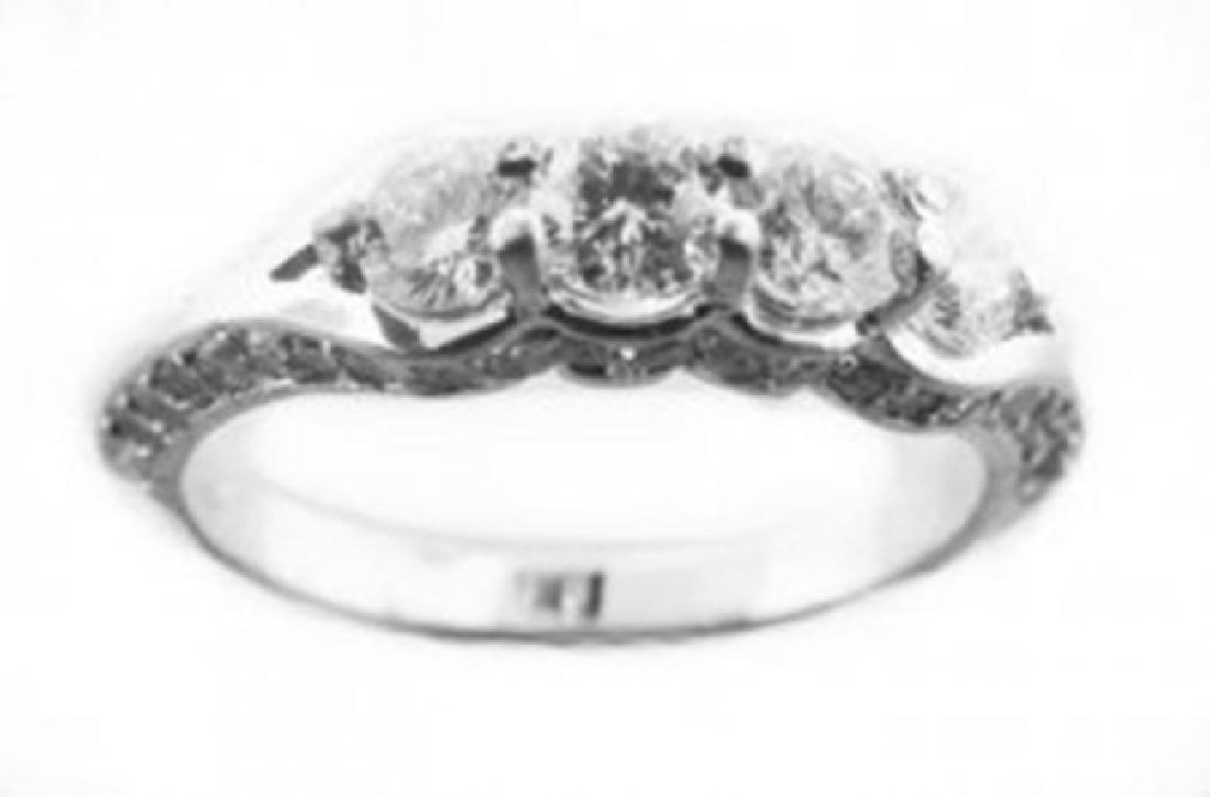 Engagement Diamond Ring : 1.48 Carat 14K White Gold