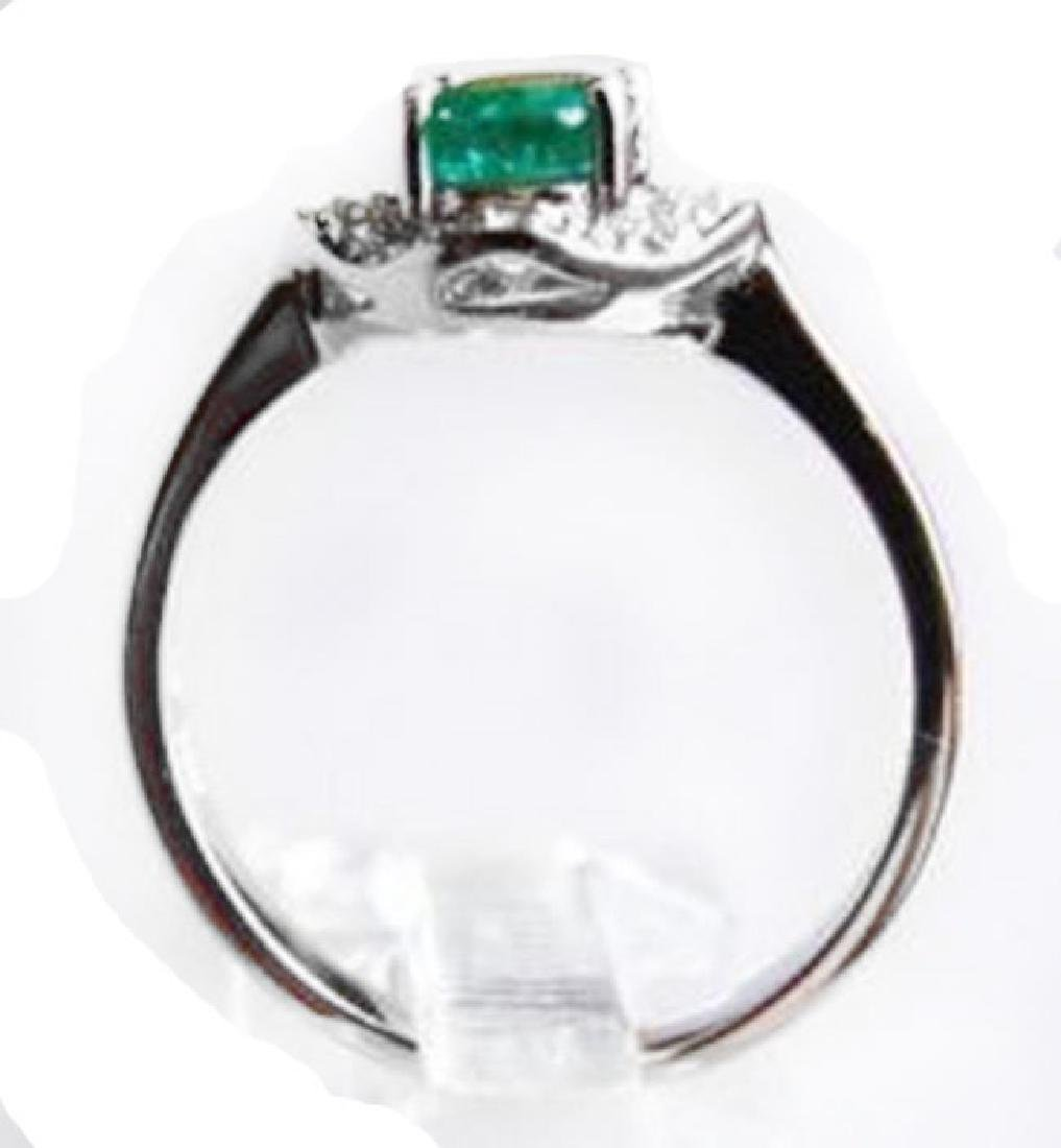 Ring Natural Columbia Emerald Diamond 1.25Ct 14k W/g - 3