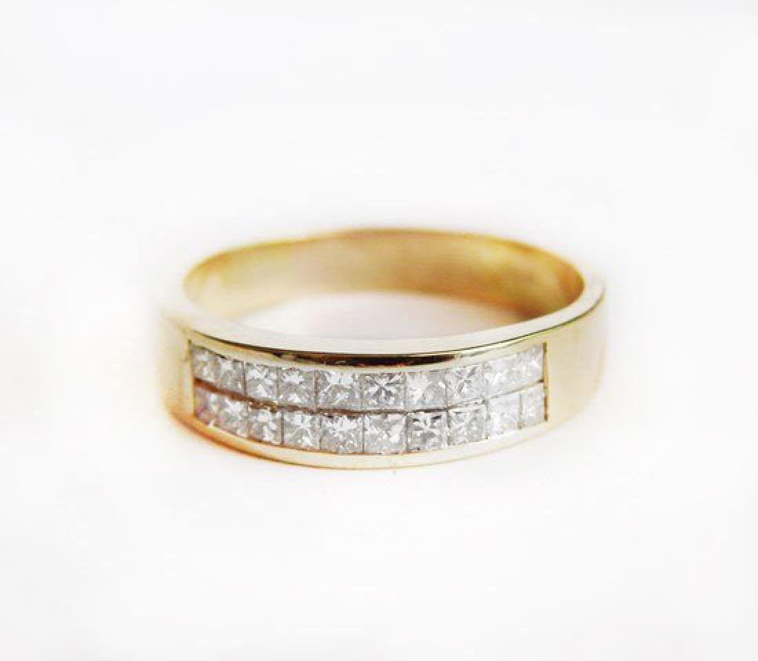 Invisible Diamond Ring 1.23 Carat 18k Y/g (Size: 11) - 3