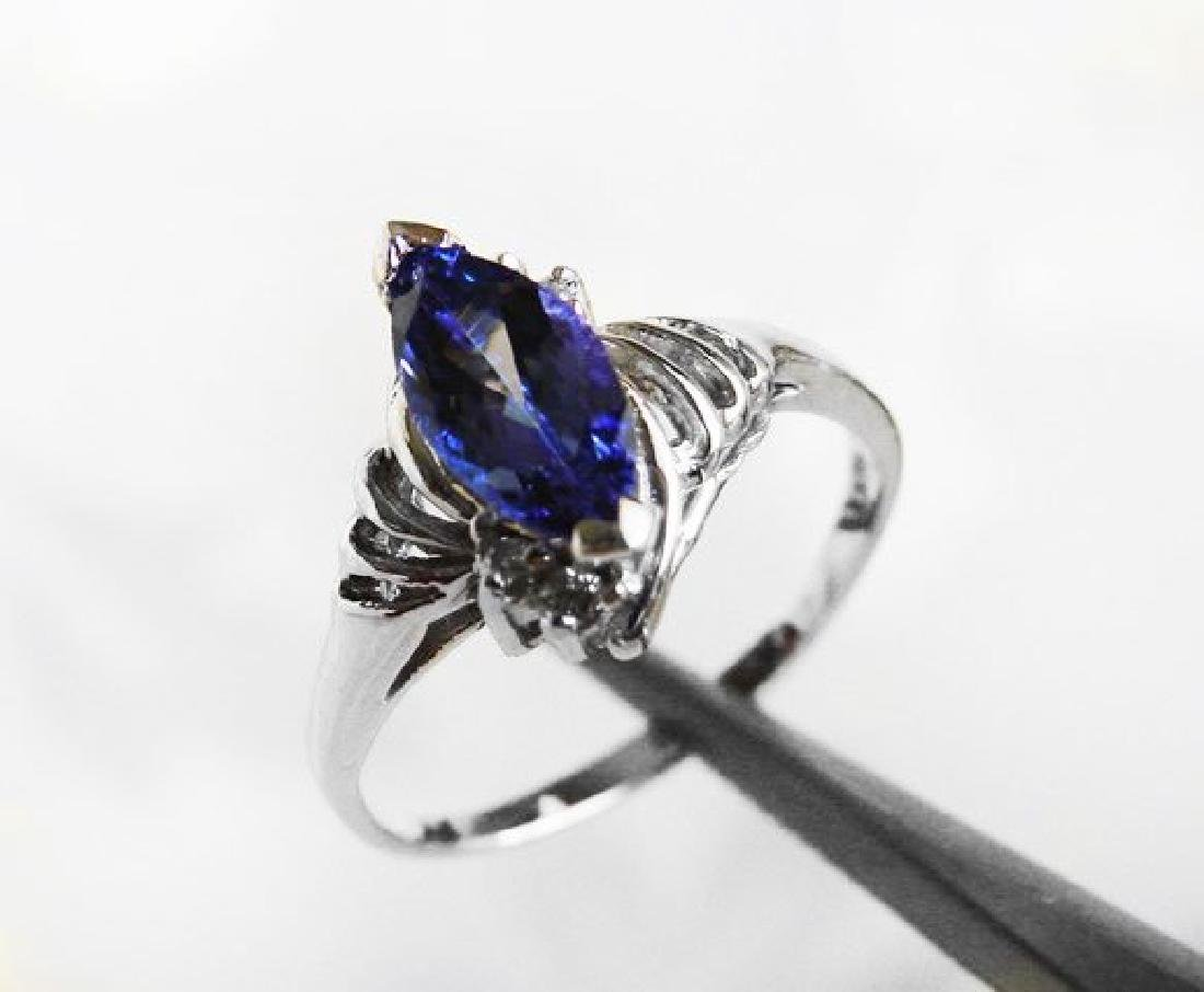 Tanzanite & Diamond Ring 1.20T14k W/g
