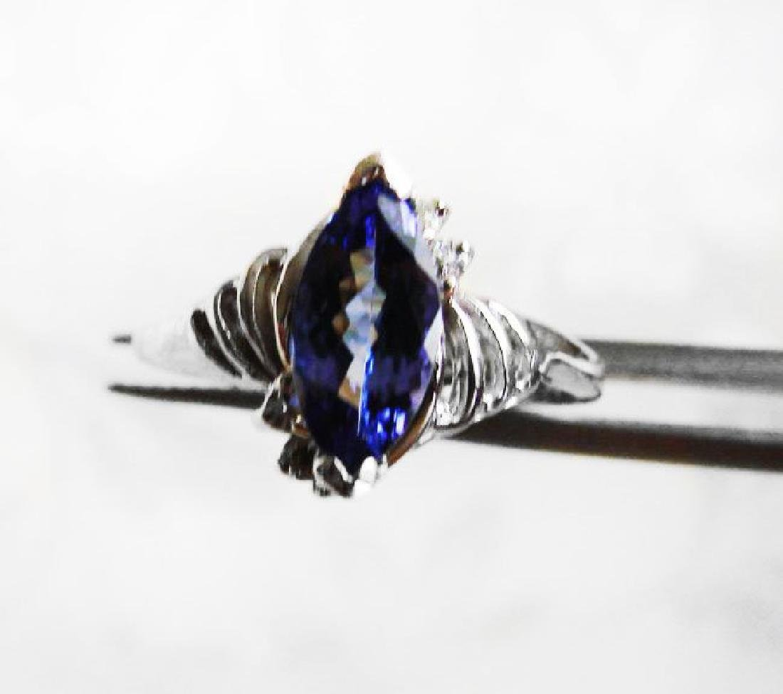 Tanzanite & Diamond Ring 1.20T14k W/g - 2
