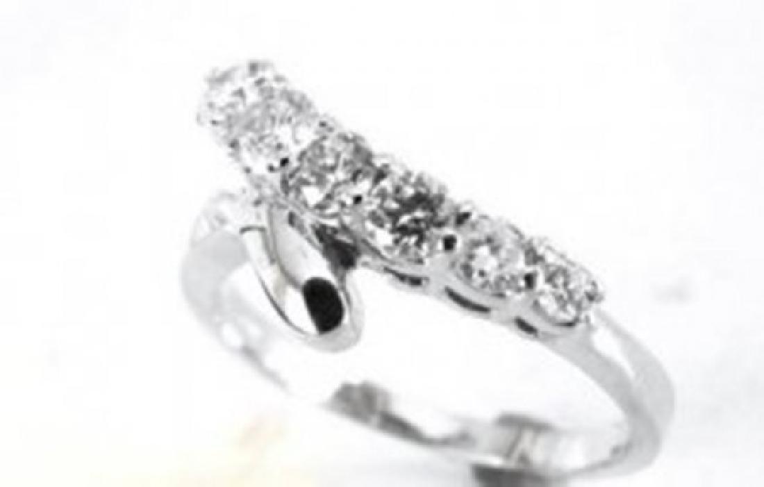 Diamond Rings 1.00Ct 14k White Gold - 2