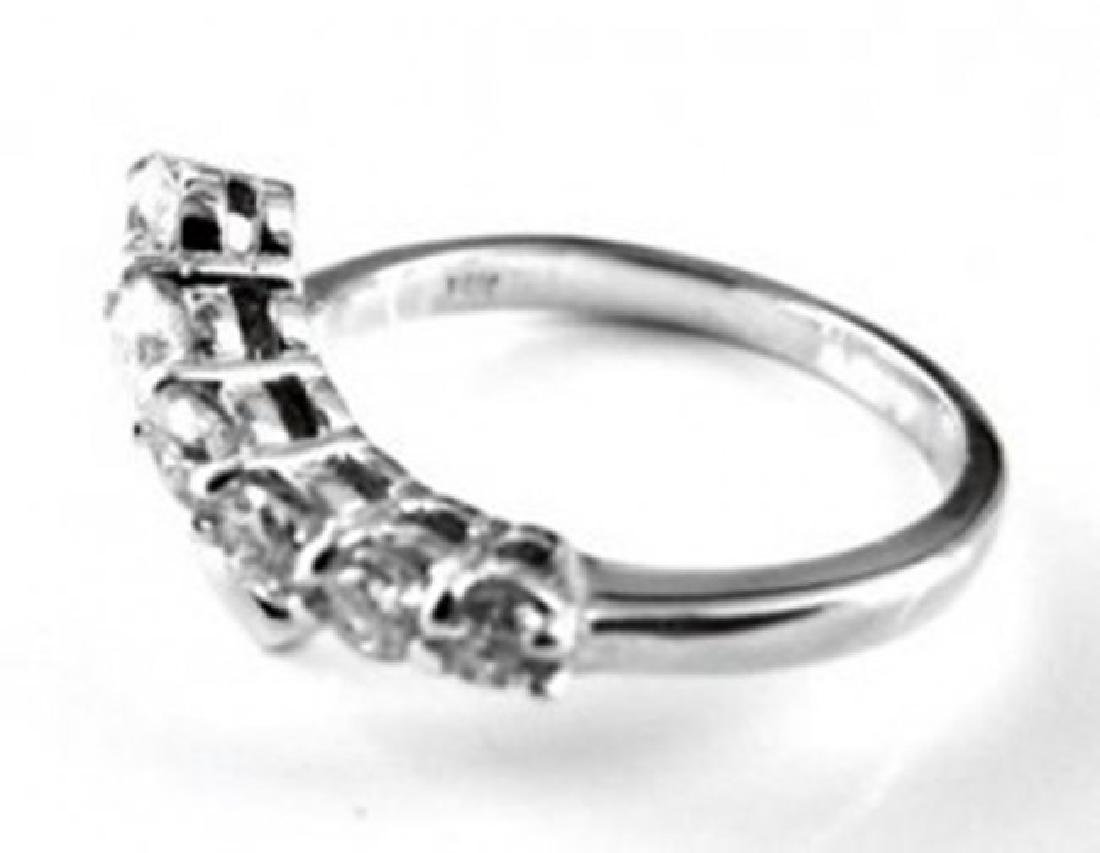 Diamond Rings 1.00Ct 14k White Gold - 3