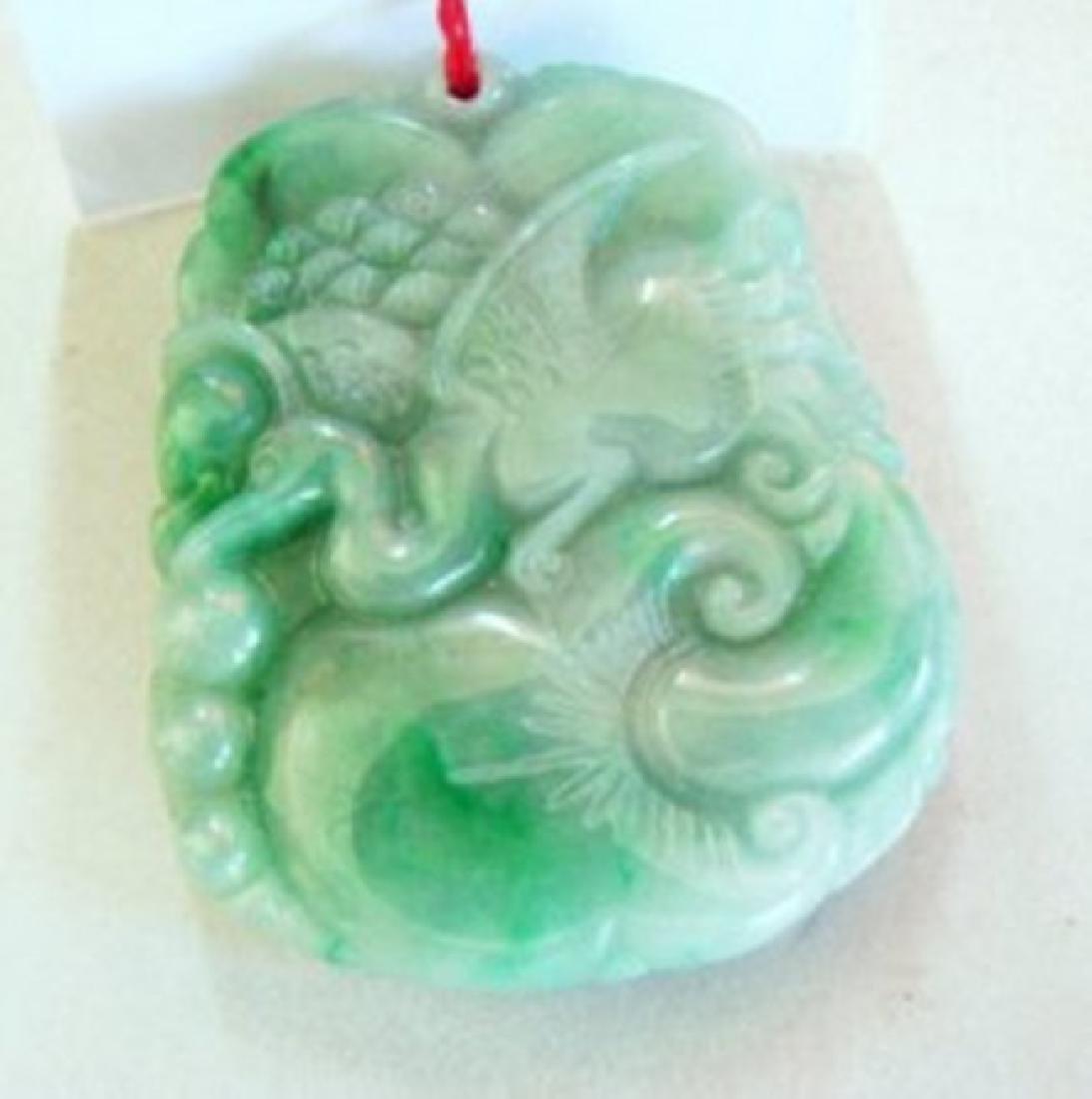Natural Jade Carving Birds Mouse Ruyi Grade: A - 2