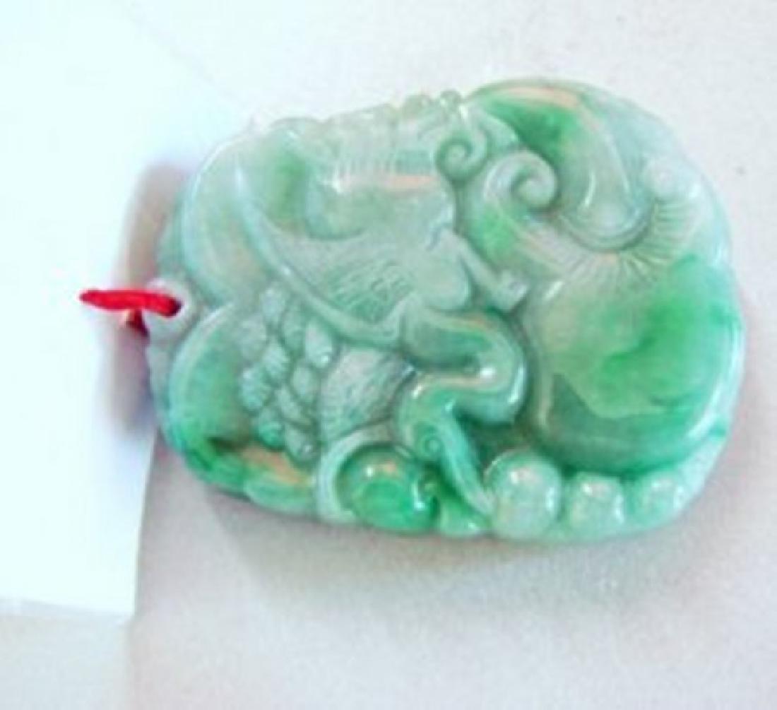 Natural Jade Carving Birds Mouse Ruyi Grade: A - 3