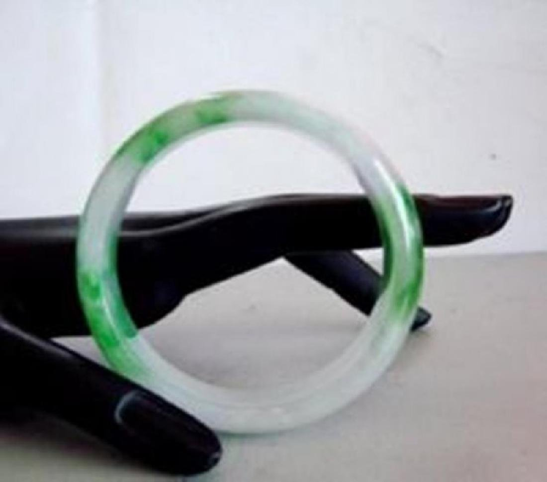 Natural Jade Bangle Grade A Size: 6.5 - 4