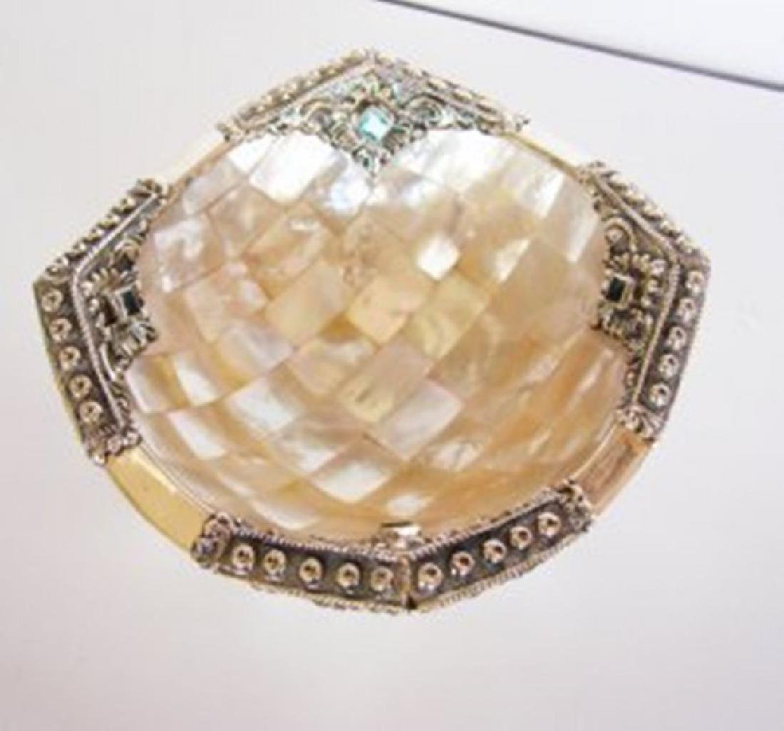 Collectable Item Mother Pearl/Topaz/ Silver 925