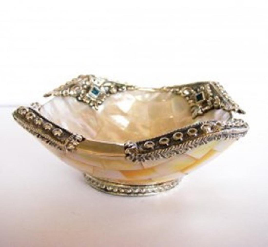 Collectable Item Mother Pearl/Topaz/ Silver 925 - 2