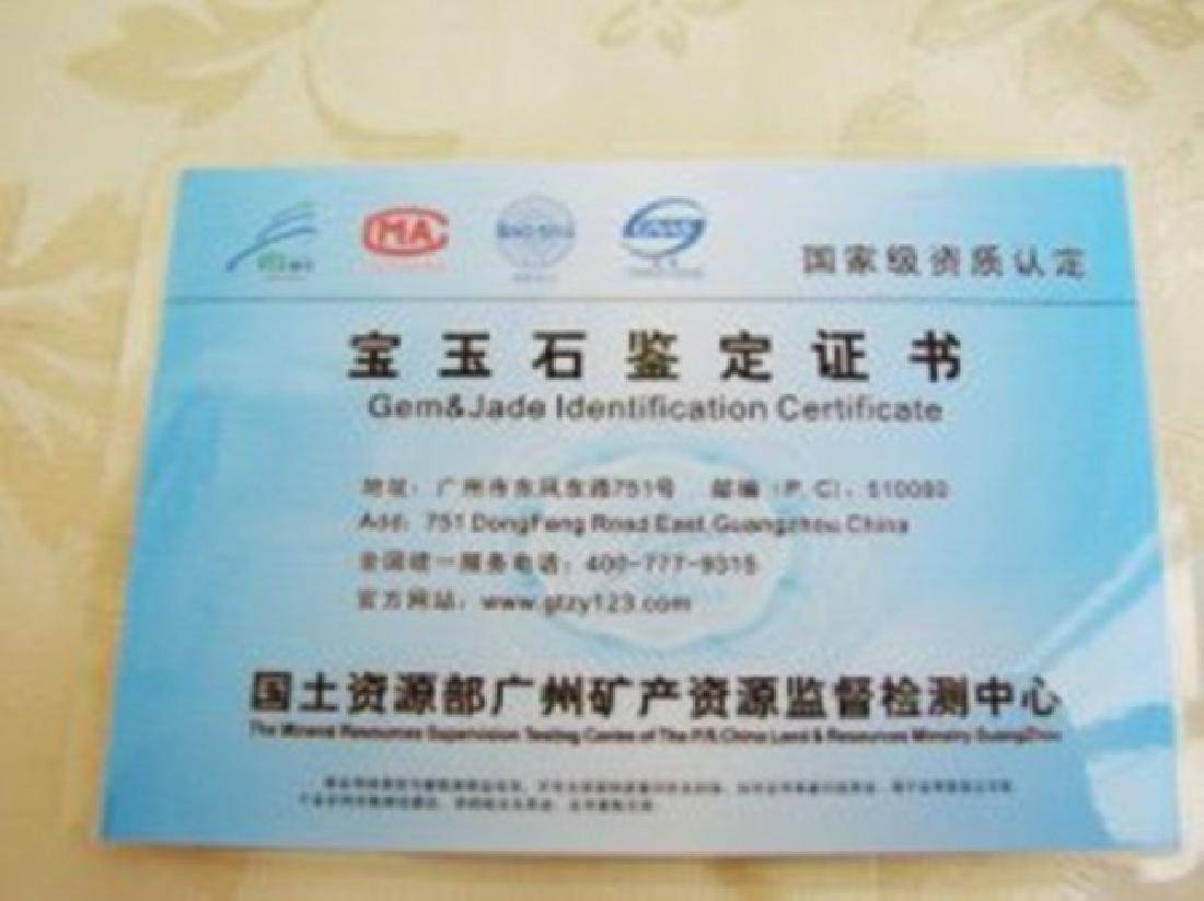 Natural Jadeite Jade Carved Bangle Certi Grade A SZ 7 - 6