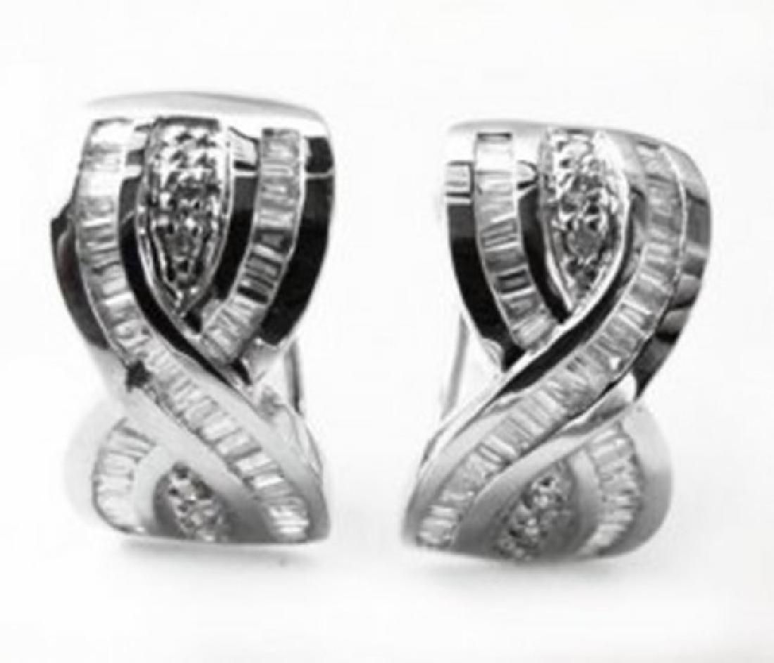 Stunning Diamond Earrings 1.38 Carat 14k W/g