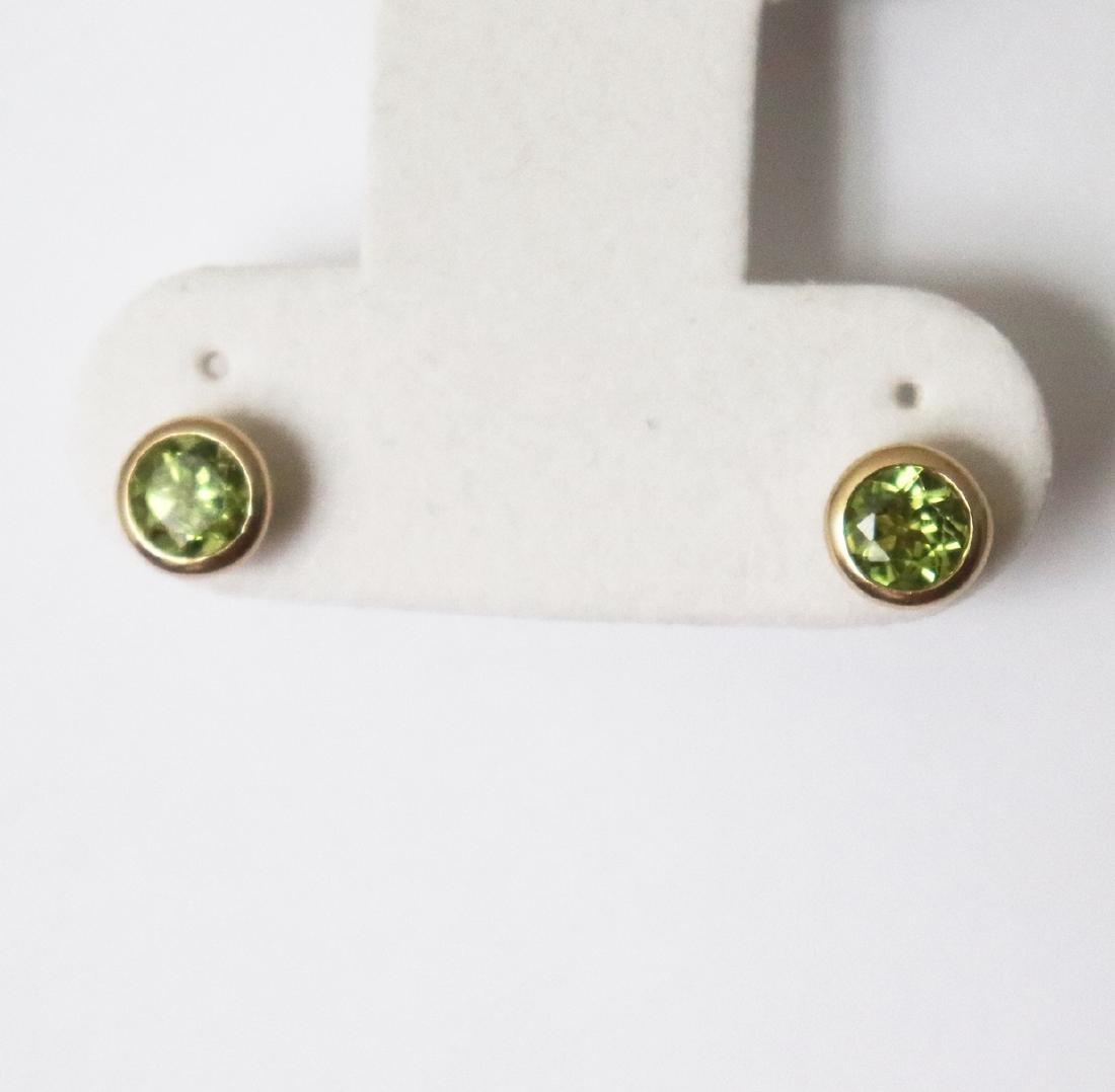 Natural Peridot Stud Earring 3.10Ct 14k Y/g - 2