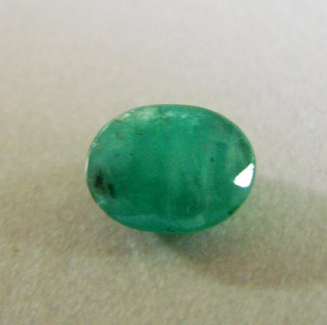 Natural Emerald Oval Facet 4.13Ct 10.7x8.1x6.8 mm - 2