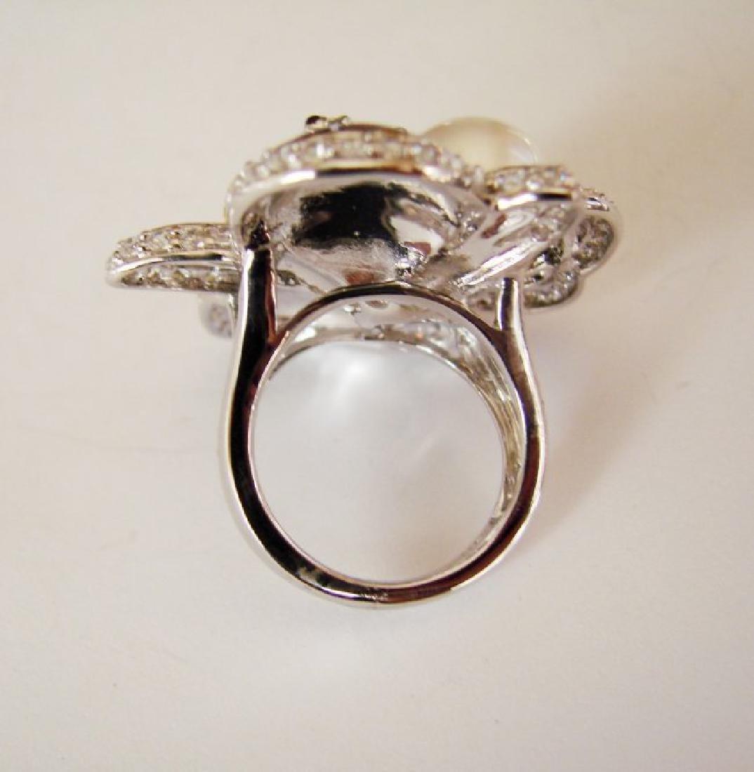 Culture Pearl Creation Diamond 1.23Ct 18k W/g Over - 5