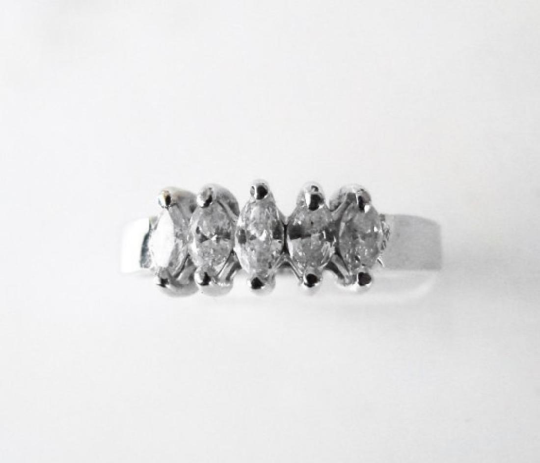 Engagement Diamond Ring .70Ct 14k W/g