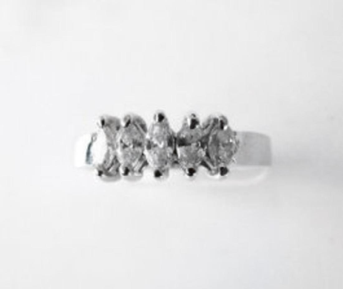 Engagement Diamond Ring .70Ct 14k W/g - 4