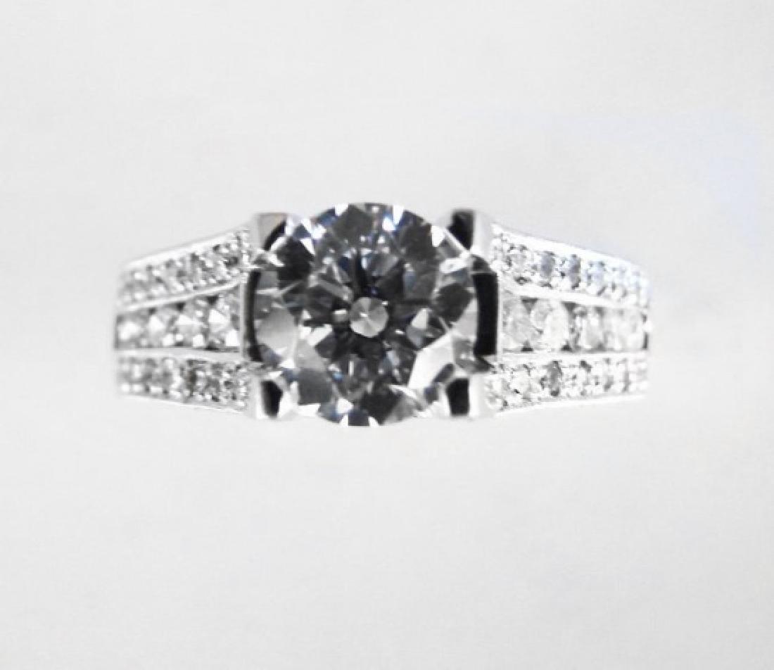 Diamond Wedding Ring 3.65Ct 14k White Gold Sz-7 - 3