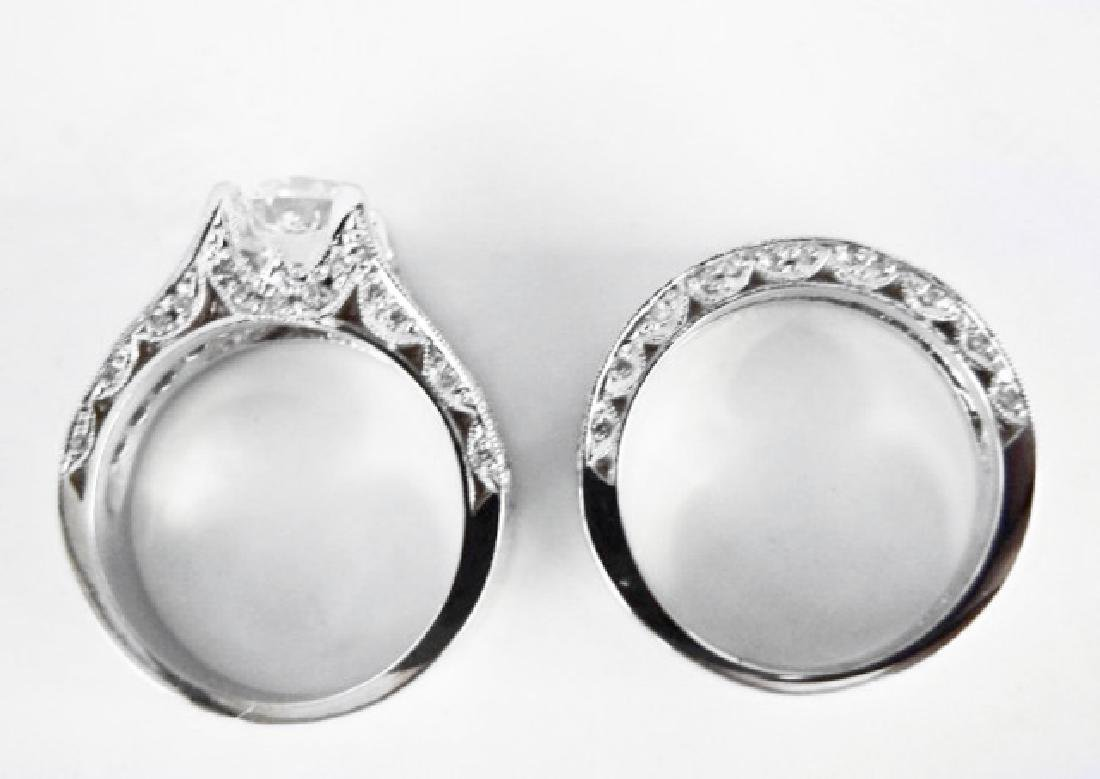 Diamond Wedding Ring 3.65Ct 14k White Gold Sz-7 - 4