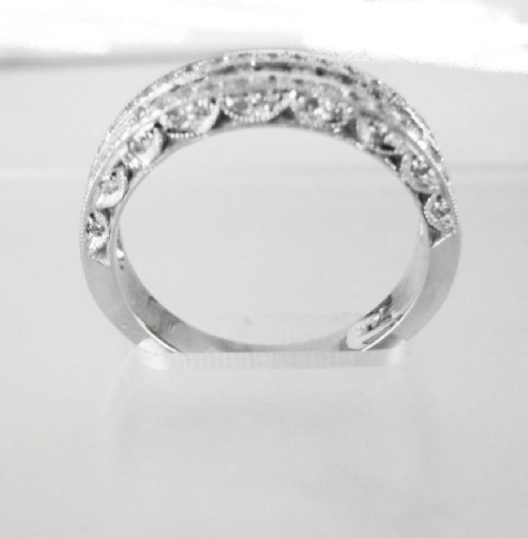 Diamond Wedding Ring 3.65Ct 14k White Gold Sz-7 - 5