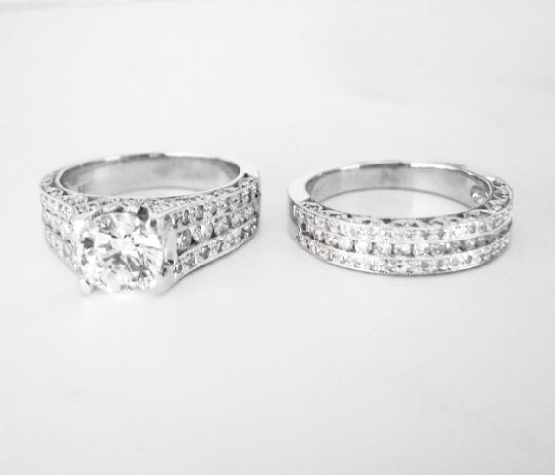 Diamond Wedding Ring 3.65Ct 14k White Gold Sz-7 - 6