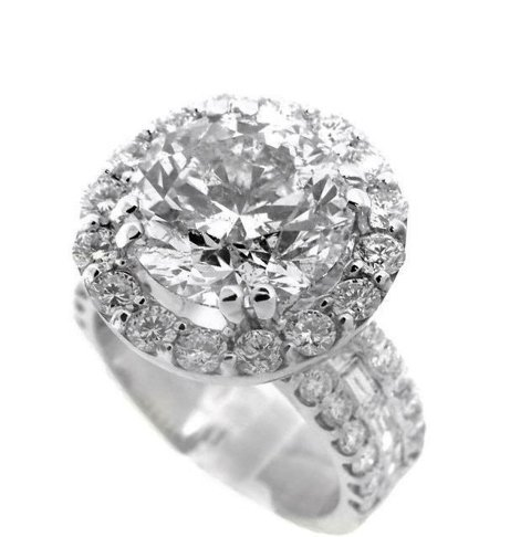 Anniversary Diamond Ring 4.07 Carat 14K W/G - 2