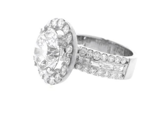 Anniversary Diamond Ring 4.07 Carat 14K W/G - 3