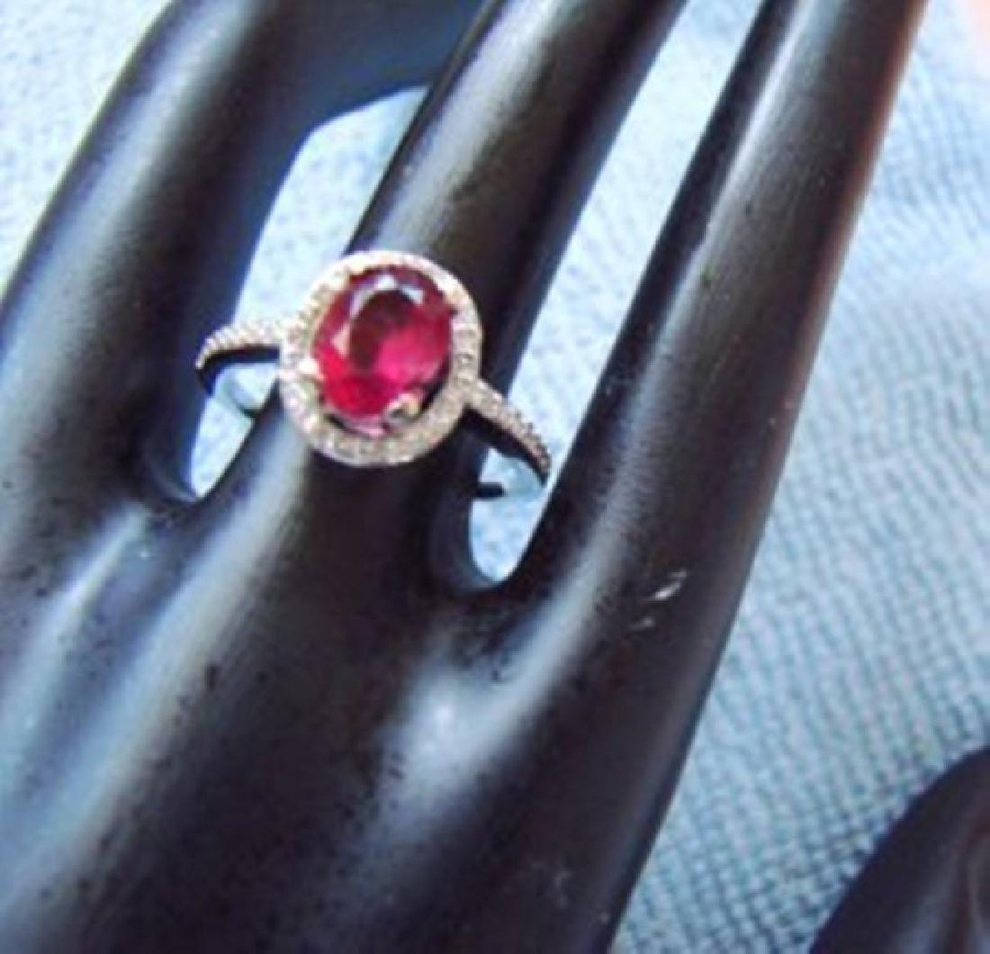 Anniversary Ruby Diamond Ring 2.80Ct 14k W/g