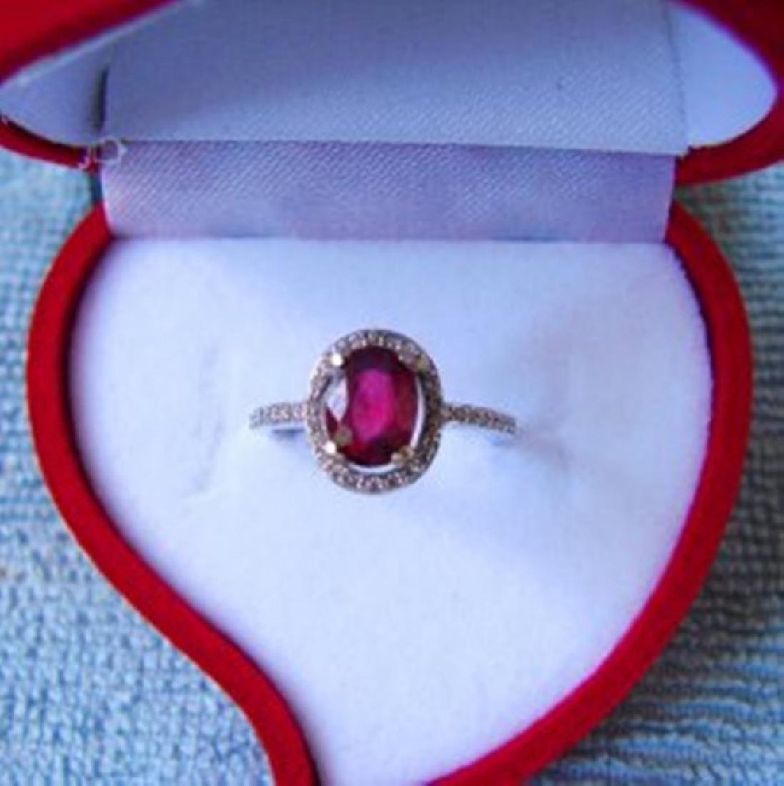 Anniversary Ruby Diamond Ring 2.80Ct 14k W/g - 2