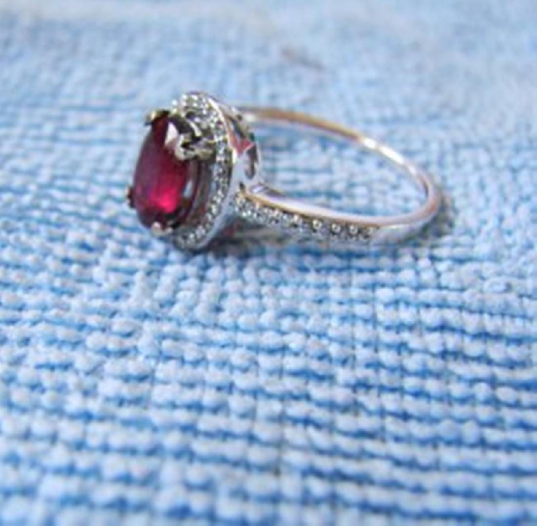 Anniversary Ruby Diamond Ring 2.80Ct 14k W/g - 3