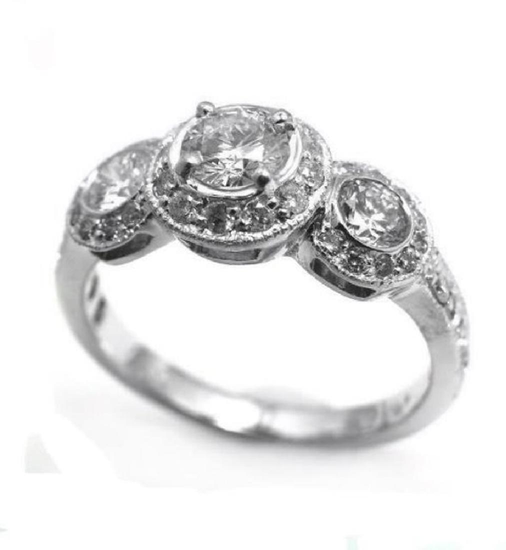 Engagement Daimond Rind 1.49 Ct 14K W/g - 2