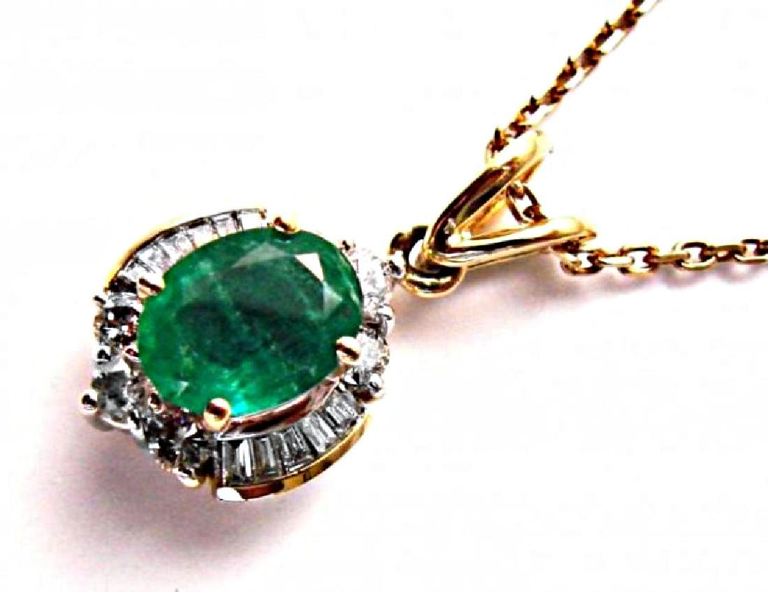 Emerald-Diamond Pendant 2.79Ct14k Y/g - 2