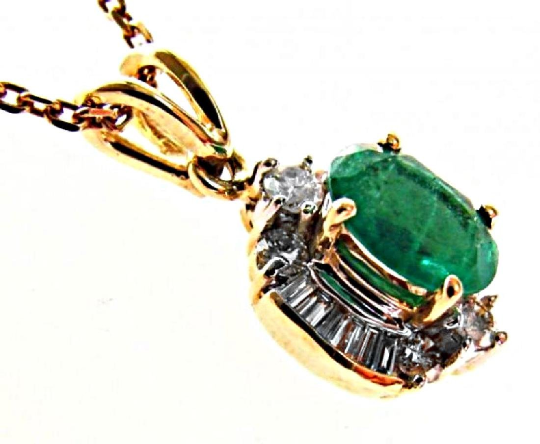 Emerald-Diamond Pendant 2.79Ct14k Y/g - 3