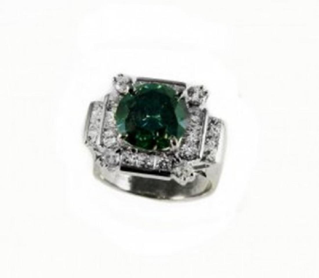 Diamond & Moissanite Ring 5.73CT 14K W/g