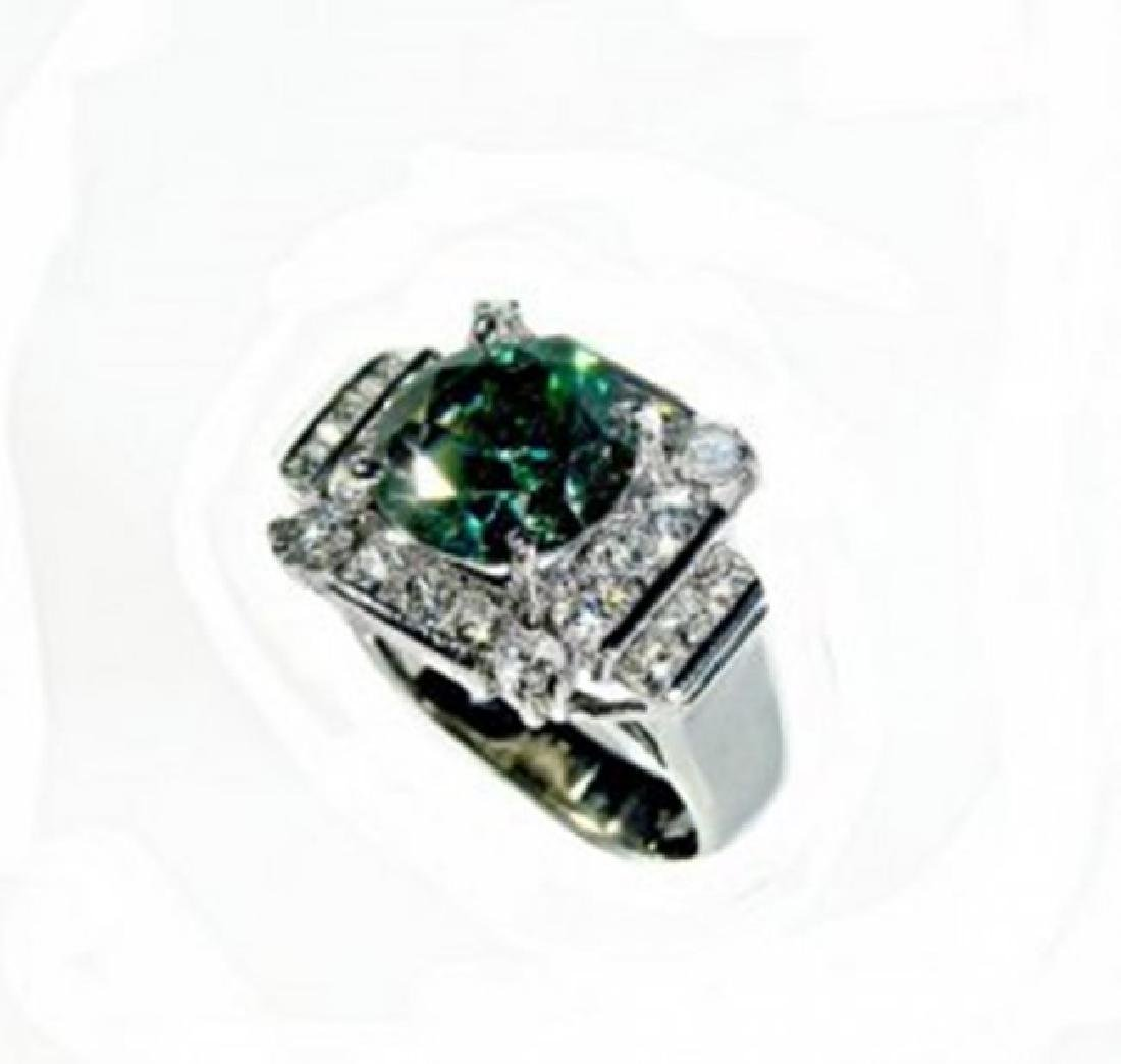 Diamond & Moissanite Ring 5.73CT 14K W/g - 2