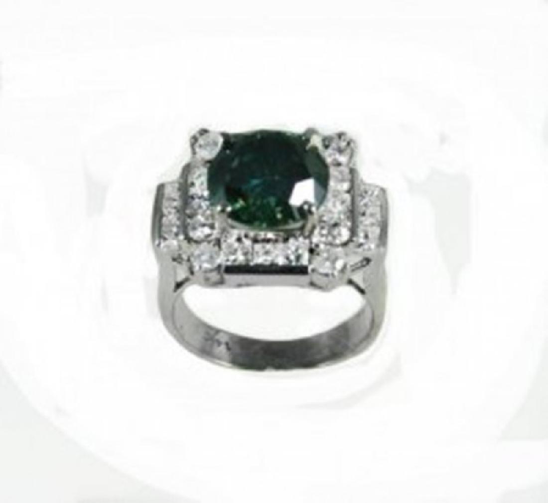 Diamond & Moissanite Ring 5.73CT 14K W/g - 3