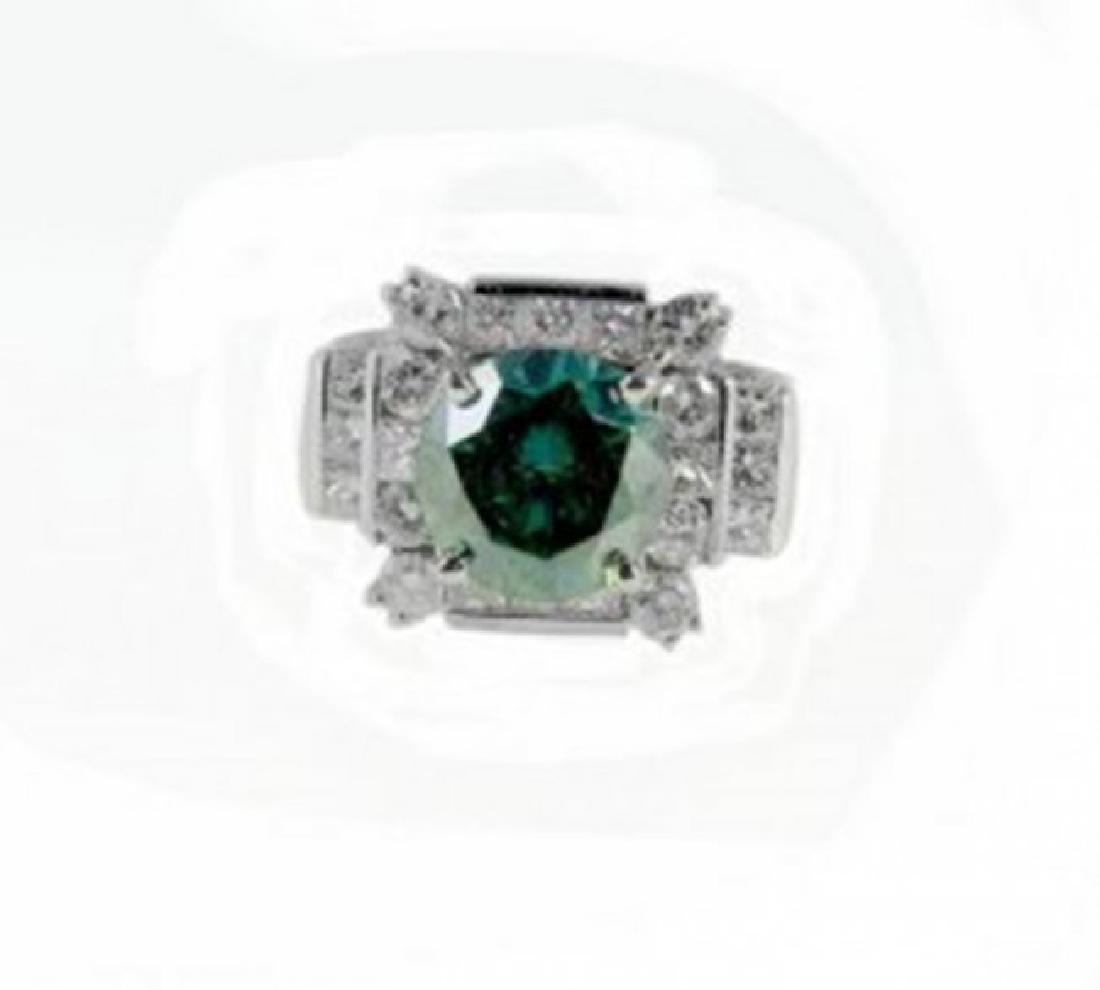 Diamond & Moissanite Ring 5.73CT 14K W/g - 4